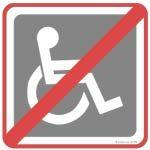 Restaurant non accessible en fauteuil roulant